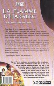 Ayesha t.2 ; la flamme d'Harabec - 4ème de couverture - Format classique