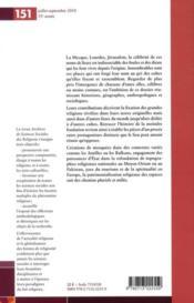 Archives De Sciences Sociales Des Religions N.151 ; Fondation De Lieux De Culte - 4ème de couverture - Format classique