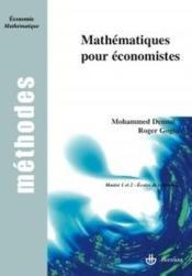 Mathématiques pour économistes - Couverture - Format classique