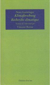Kilmaforschung / recherche climatique + dc - Couverture - Format classique