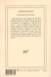 L'inconnue de la Seine - 4ème de couverture - Format classique