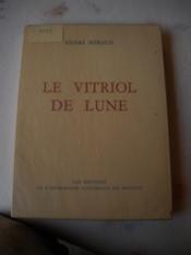 Le Vitriol De Lune - Couverture - Format classique