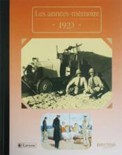 Les années-mémoires 1923 - Couverture - Format classique