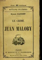 Le Crime De Jean Malory. - Couverture - Format classique