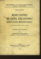 Meditationes De Prima Philosophia - Couverture - Format classique