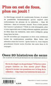 OSEZ ; 20 histoires de sexe à plusieurs - 4ème de couverture - Format classique