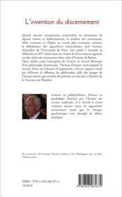 L'invention du discernement ; Ermine de Reims, sainte ou hérétique ?sSimulatrice ou hallucinée ? - 4ème de couverture - Format classique