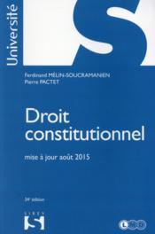 Droit constitutionnel (34e édition) - Couverture - Format classique