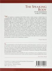 Scilicet ; The Speaking Body. On the Unconscious in the 21st Century - 4ème de couverture - Format classique
