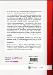 Le mémo social (édition 2017) - 4ème de couverture - Format classique