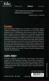 Condor - 4ème de couverture - Format classique