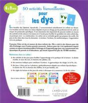 50 activités bienveillantes pour les dys - 4ème de couverture - Format classique