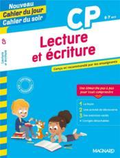 Cahier du jour / cahier du soir ; lecture et écriture ; CP - Couverture - Format classique