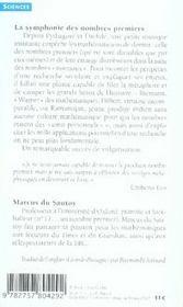 La symphonie des nombres premiers - 4ème de couverture - Format classique