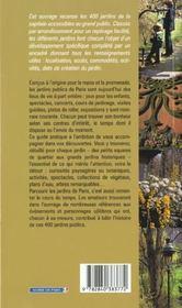 Le guide des 400 parcs et jardins de paris - 4ème de couverture - Format classique
