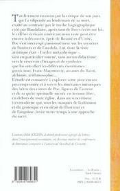 Itineraire Initiatique D Edgar Poe - 4ème de couverture - Format classique