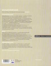 MONUMENTAL ; dossier Vincennes (édition 2006) - 4ème de couverture - Format classique