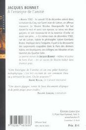 A L Enseigne De L Amitie - 4ème de couverture - Format classique