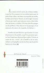 La vie de Paul Cézanne - 4ème de couverture - Format classique