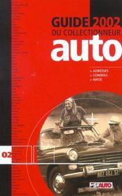 Guide du collectionneur auto (édition 2002) - Intérieur - Format classique