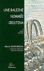 Une baleine nommée Cristina et autres nouvelles - Couverture - Format classique