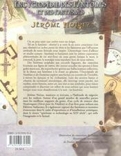 Encyclopedie Des Fantomes Et Des Fanstasmes - 4ème de couverture - Format classique