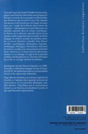 Darwin en tête ! l'évolution et les sciences cognitives - 4ème de couverture - Format classique