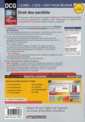 DCG 2 ; droit des sociétés et autres groupements des affaires ; manuel et applications (4e édition) - 4ème de couverture - Format classique