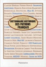 Dictionnaire historique des patrons francais - Couverture - Format classique