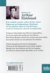 Poèmes d'Arthur Rimbaud - 4ème de couverture - Format classique