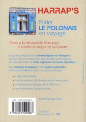 Parler le polonais en voyage - 4ème de couverture - Format classique