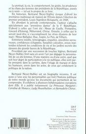 Les Dames De L'Elysee - 4ème de couverture - Format classique