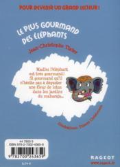 Le plus gourmand des éléphants - 4ème de couverture - Format classique