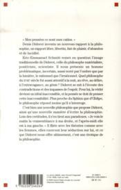 Diderot ou la philosophie de la séduction - 4ème de couverture - Format classique