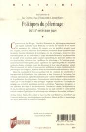 Politiques de pèlerinage ; du XVIIe siècle à nos jours - 4ème de couverture - Format classique