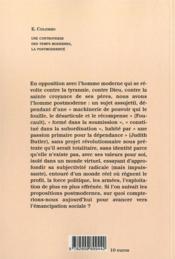 Une controverse des temps modernes : la post-modernité - 4ème de couverture - Format classique