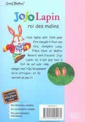 Jojo lapin roi des malins - 4ème de couverture - Format classique