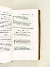 Phaedri Augusti Liberti Fabularum Libri V cum notis et supplementis Gabrielis Brotier. Accesserunt Parallelae Joannis de La Fontaine Fabulae [ Contient les