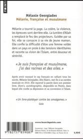 Mélanie, française et musulmane - 4ème de couverture - Format classique
