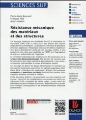 Résistance mécanique des matériaux et des structures ; cours et exercices corrigés (2e édition) - 4ème de couverture - Format classique