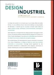 Manuel de design industriel ; les 10 étapes clés, de la conception au lancement commercial - 4ème de couverture - Format classique