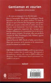 Escapades amoureuses T.1 ; gentleman et vaurien - 4ème de couverture - Format classique