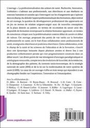 La professionnalisation des acteurs de la santé ; recherche, innovation, institution - 4ème de couverture - Format classique
