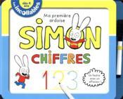 Les incollables ; Simon ; ma première ardoise ; chiffres - Couverture - Format classique