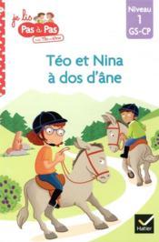 Téo et Nina à dos d'âne - Couverture - Format classique