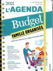 L'agenda budget famille organisée (édition 2021) - Couverture - Format classique