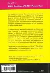 2002 Elect.Abracadabrantesques - 4ème de couverture - Format classique