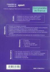 Bases de comptabilité et finance ; staps - 4ème de couverture - Format classique