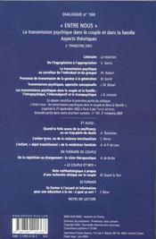 Dialogue N.160 - 4ème de couverture - Format classique