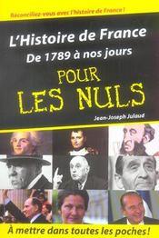 L'histoire de France de 1789 à nos jours pour les nuls - Intérieur - Format classique